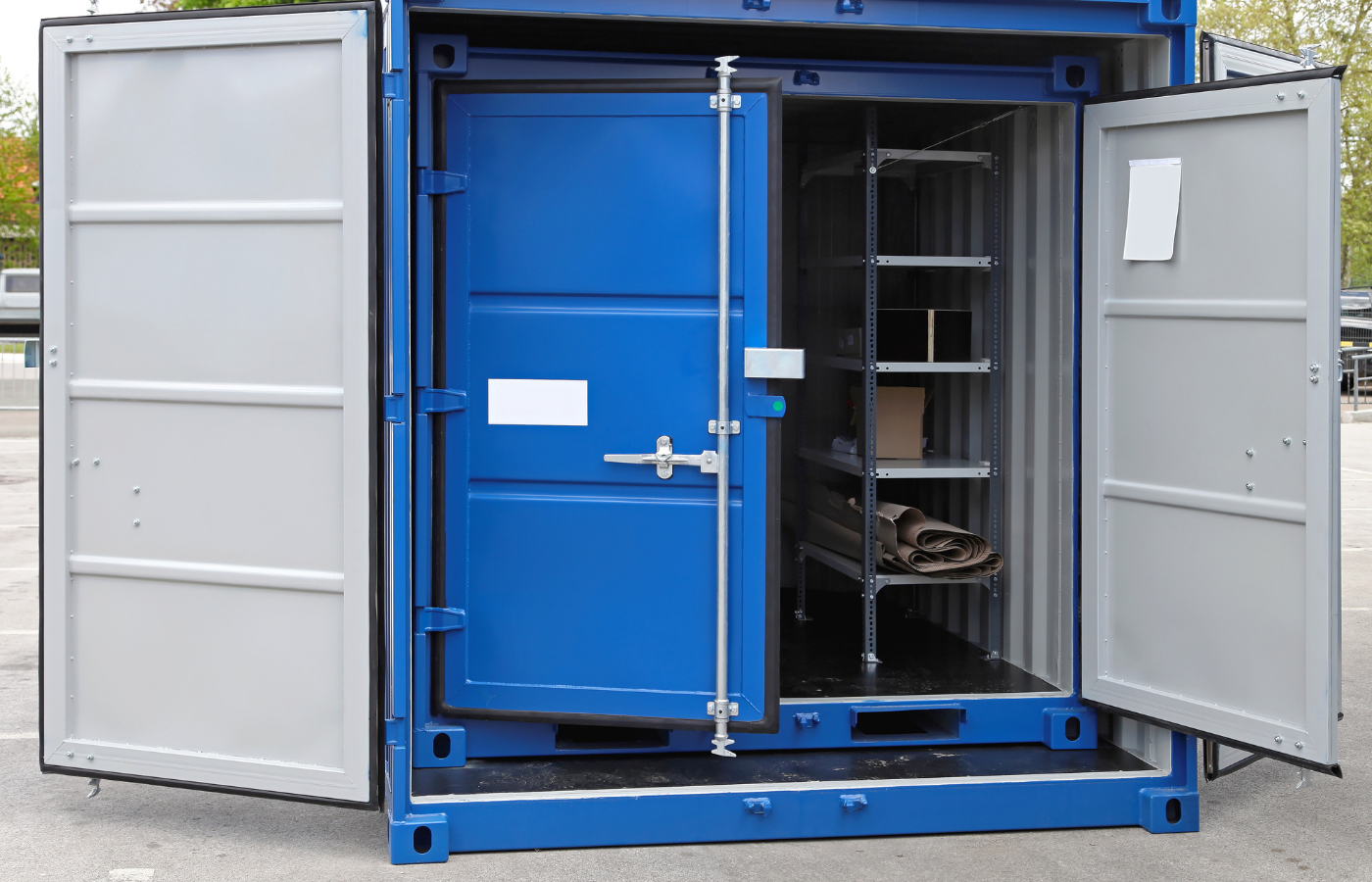 can you store firewood in a shipping container